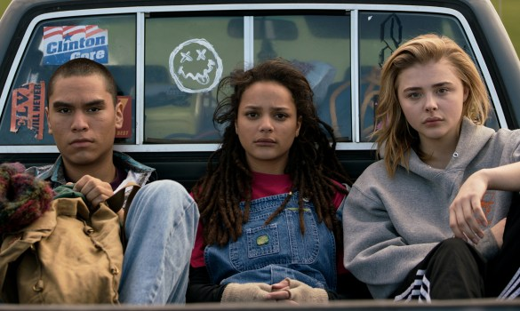 Forrest Goodluck as Adam Red Eagle, Sasha Lane as Jane Fonda, and Chloë Grace Moretz as Cameron Post in THE MISEDUCATION OF CAMERON POST. Photo Credit: Jeong Park.
