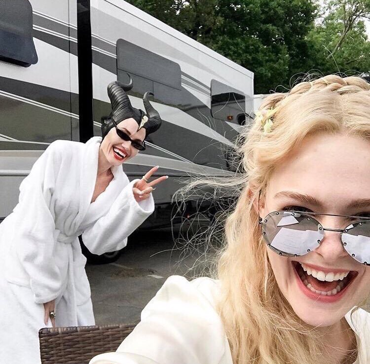 Angelina Jolie And Elle Fanning Reunite As Production Starts