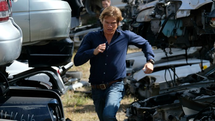 "Pictured: Lucas Till as Angus ""Mac"" MacGyver. Photo: Guy D'Alema/CBS2016 CBS Broadcasting, Inc. All Rights Reserved"