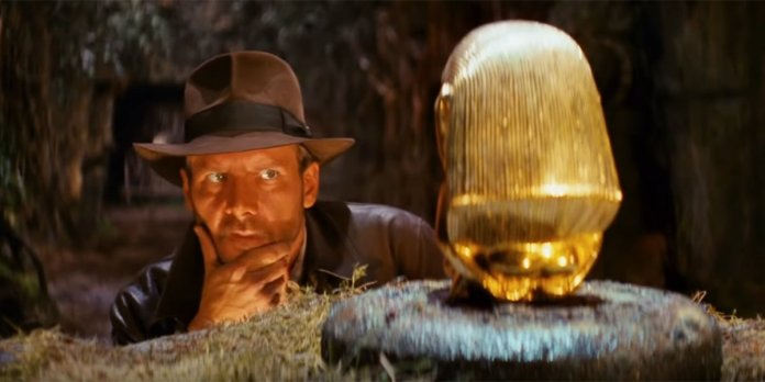 Indiana Jones Gold Figurine