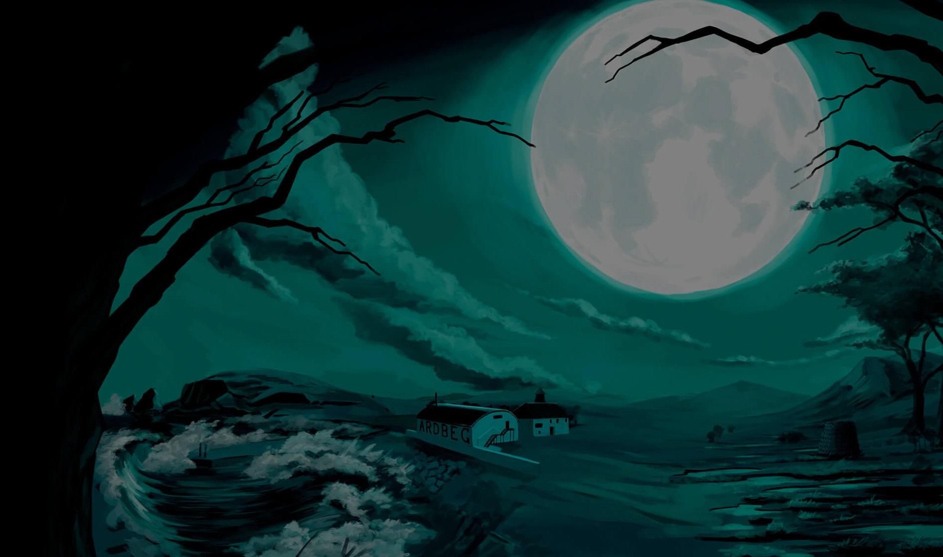 Ardberg Halloween moon