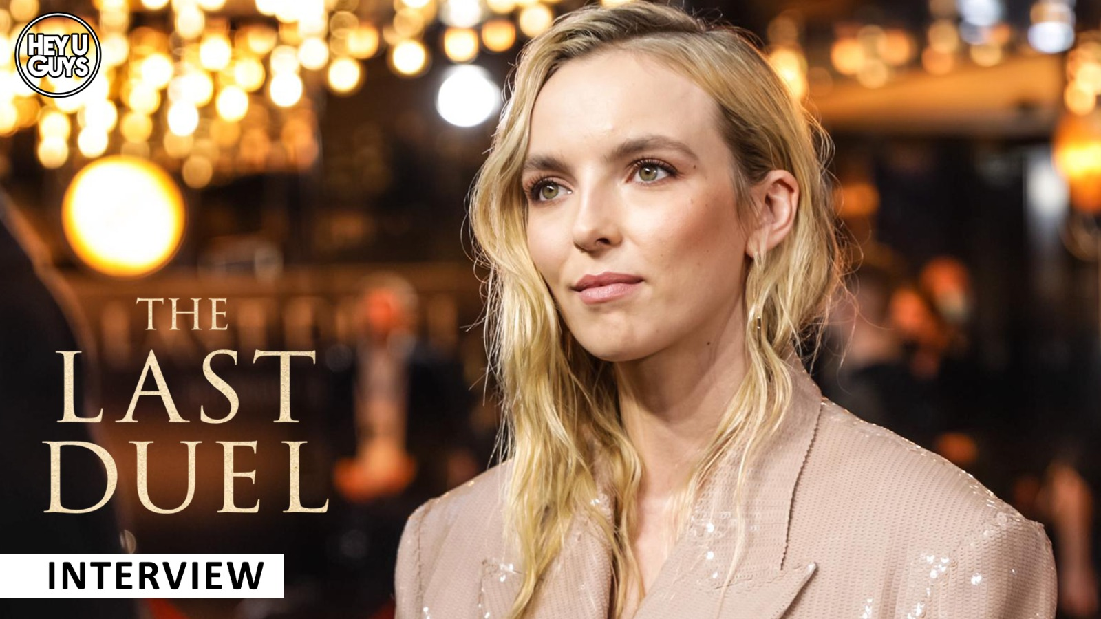 the last duel uk premiere interview jodie comer