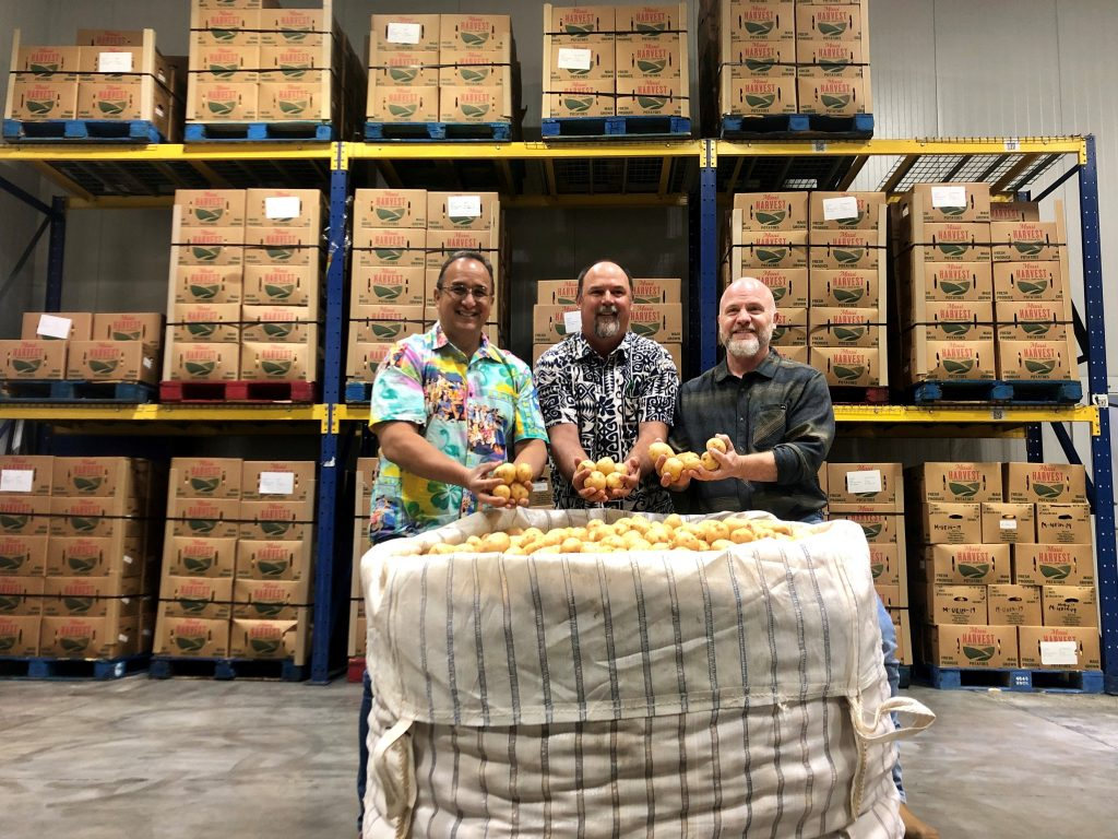 Donating locally-grown potatoes and transportation during the pandemic