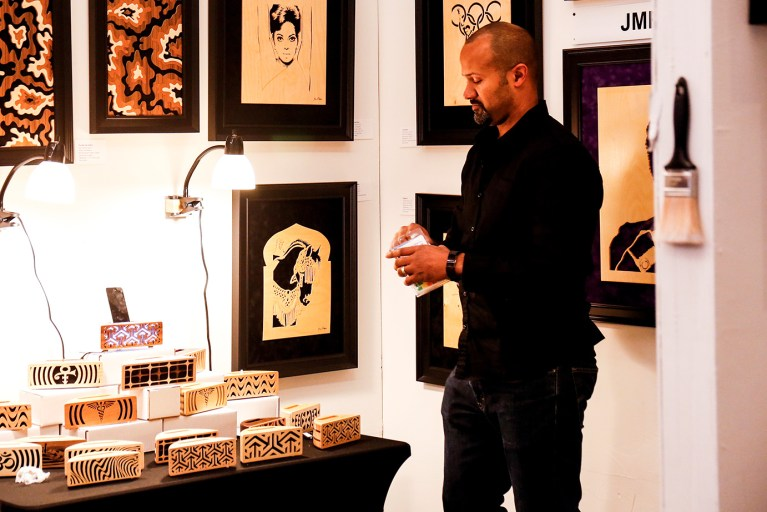 Artist Jay Roberts talks about his engineered and handmade acoustic cell phone boxes