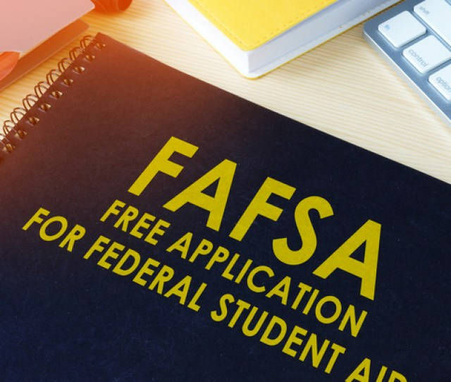 Notebook With Title Fafsa Free Application For Federal Student