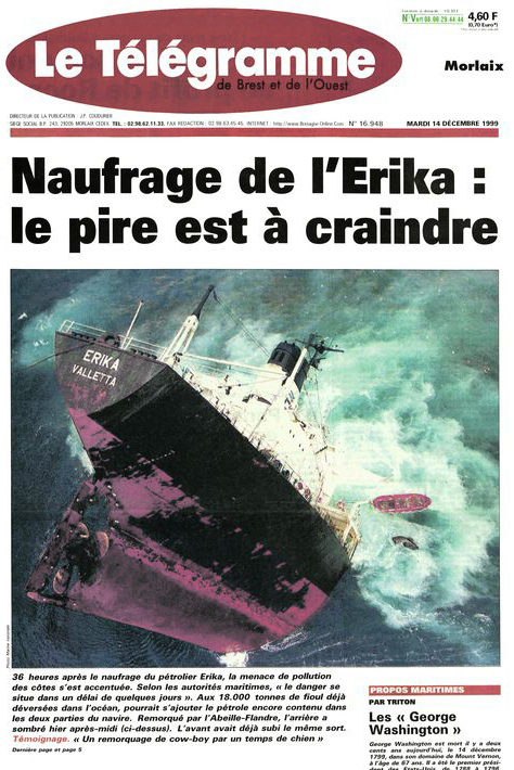 The sinking of the Erika