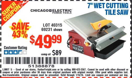 harbor freight tools coupon database