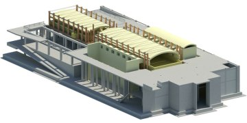 engineering-3D rendering of furnace building