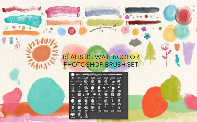 freebie: realistic watercolor brushes – HG Designs