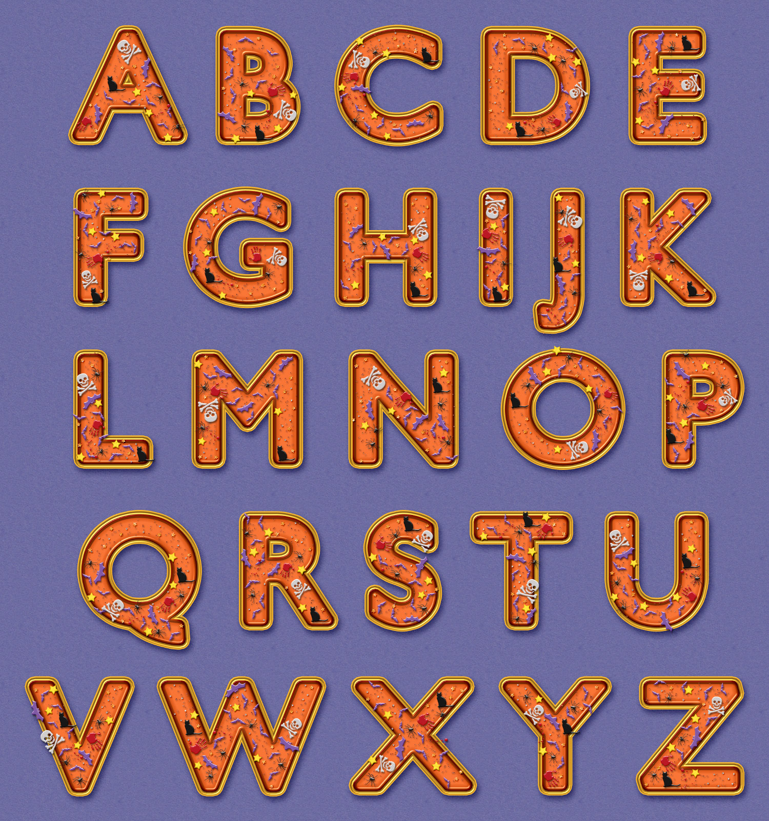 Freebie Halloween Alphabet Hg Designs