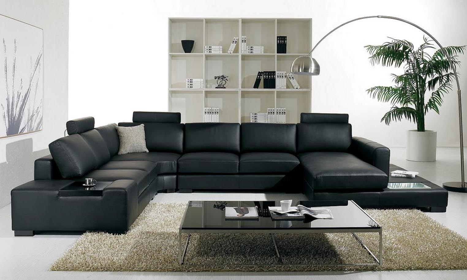 Black Leather Sofa Sets Inspiring Ideas For Living Room Hgnv