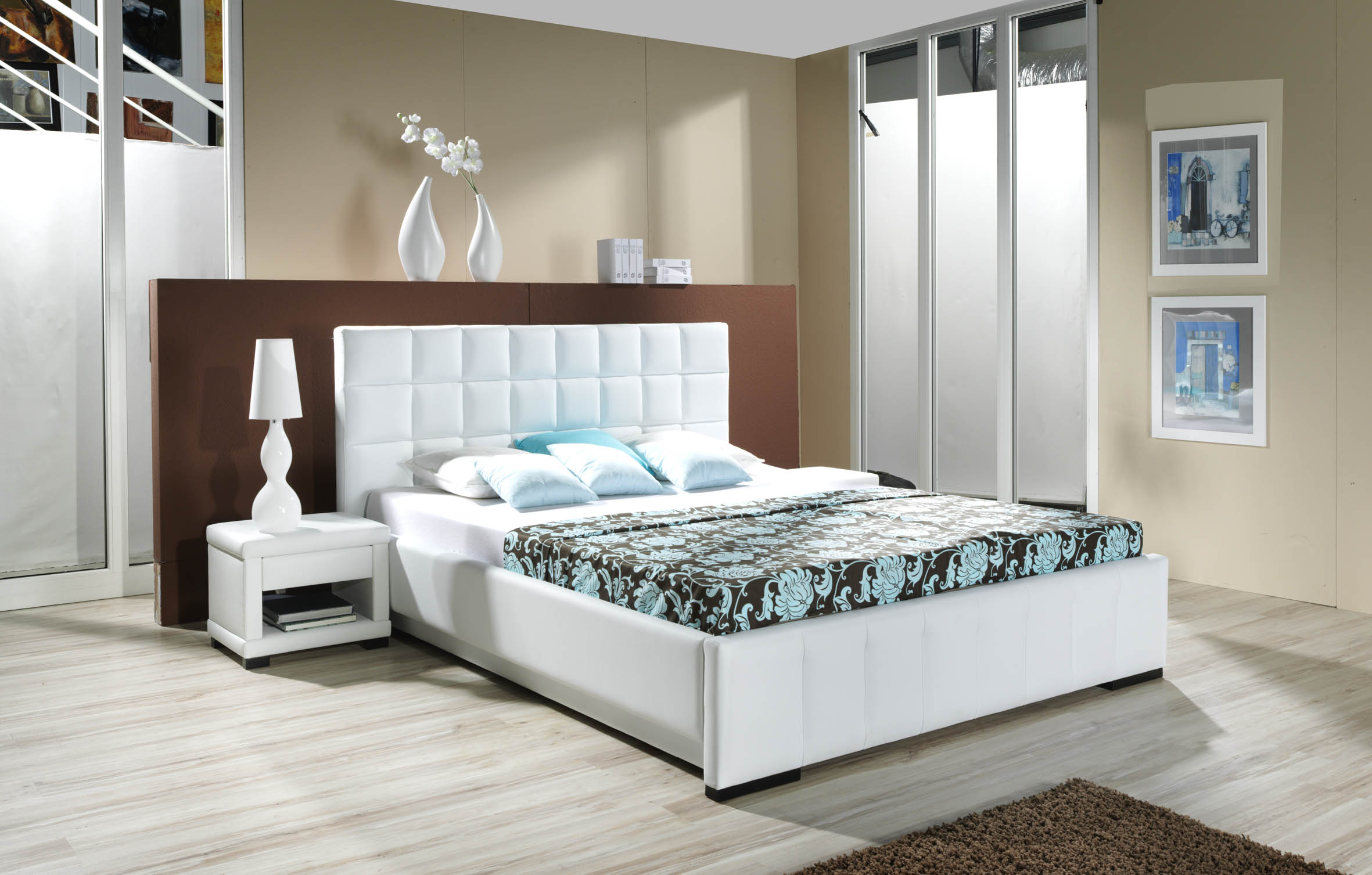15 Top White Bedroom Furniture Might Be Suitable for Your Room     White Wood Bedroom Furniture Idea With Upholstered Bed And Chest Of Drawers  With Good Room Arrangement