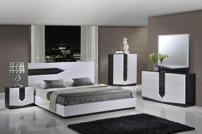 View In Gallery Minimalist White High Gloss Bedroom Furniture Ideas Bed With Cabinets Funky
