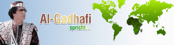 Al Gaddafi spricht Deutsch - Home
