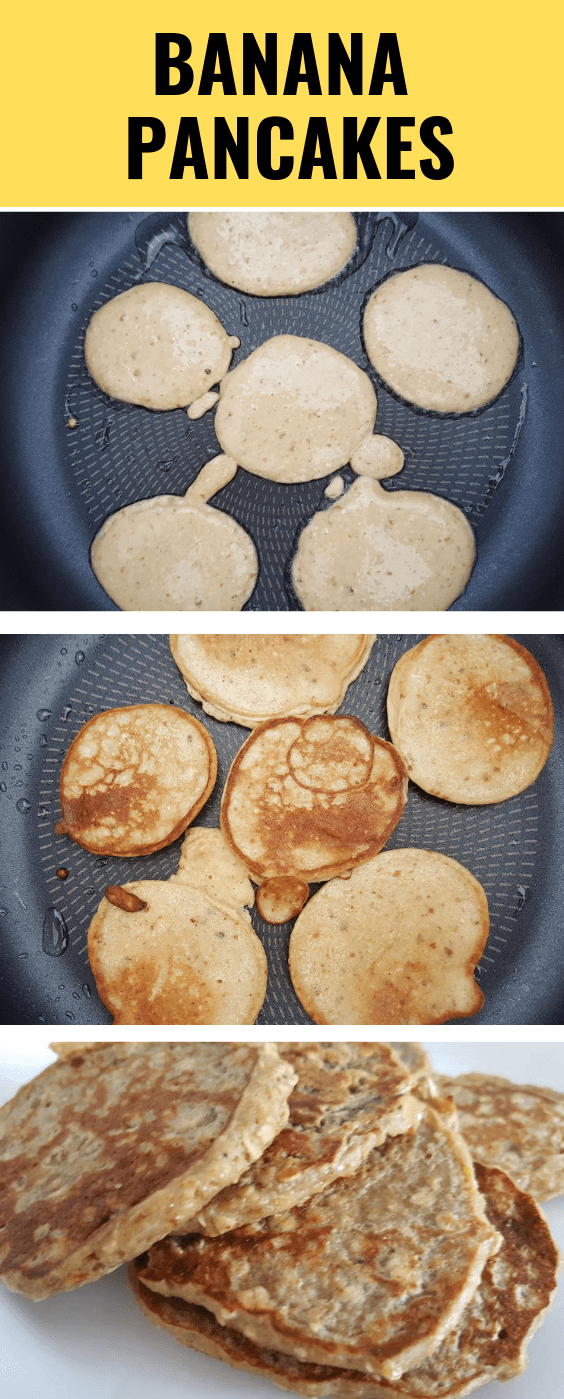 healthy banana pancakes with oats - these pancakes are healthy, nutritious and easy to make! Plus they're a great and fun baby food!