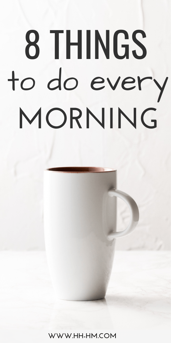 8 morning rituals to start! These healthy daily habits should be a part of your morning routine to be successful and happy.
