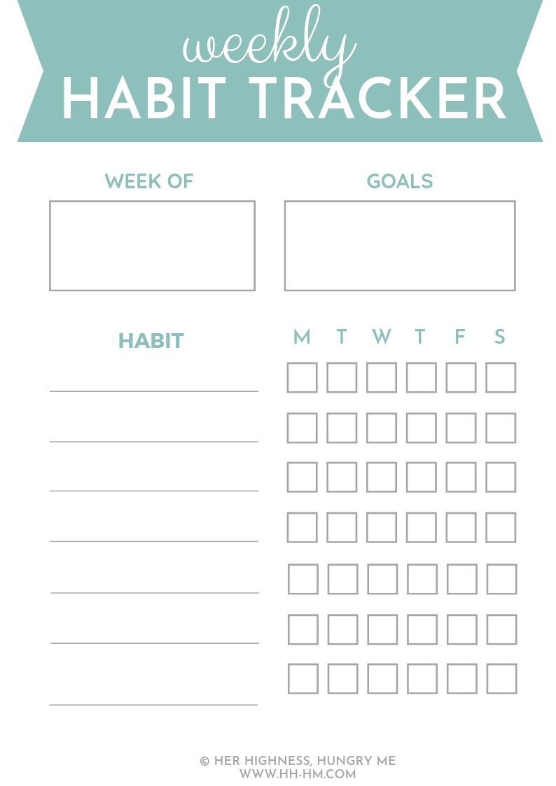 Weekly Habit Tracker to develop good habits and achieve your goals! And 47 things to track in your habit tracker!