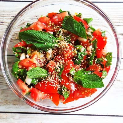 Super Fresh Tomato Mint Salad