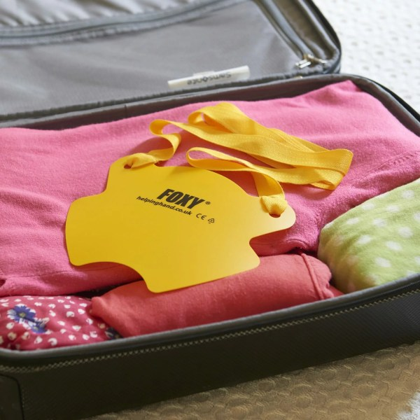 Foxy sock aid, ideal for taking on holiday. Neat and compact to fit into your suitcase.