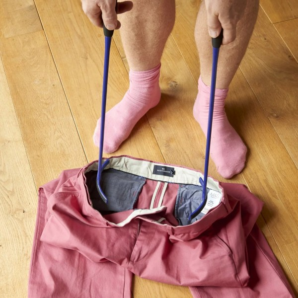 Lower body dressing without the need for bending of stretching. Put on your tracksuit bottoms, skirts and underwear with ease