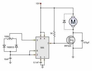 12V DC Motor Speed Control Circuit Diagram  HHO