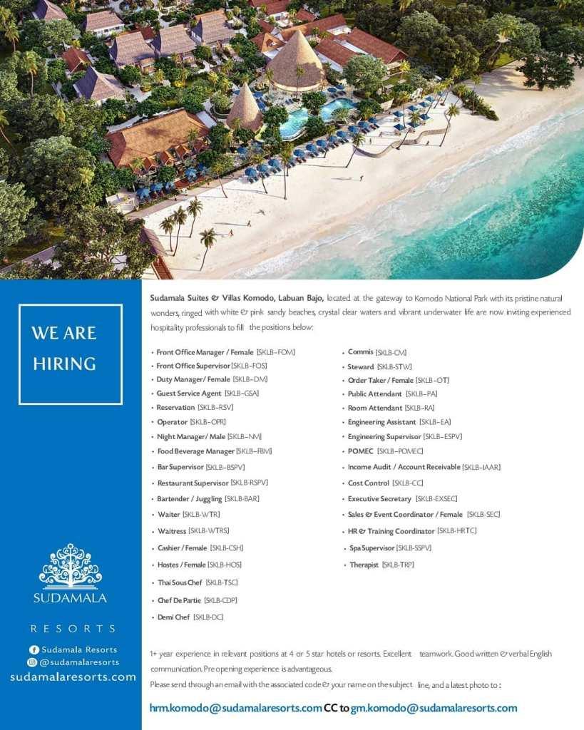 Sudamala Suites And Villas Hhrma Hotel Job Vacancy Indonesia