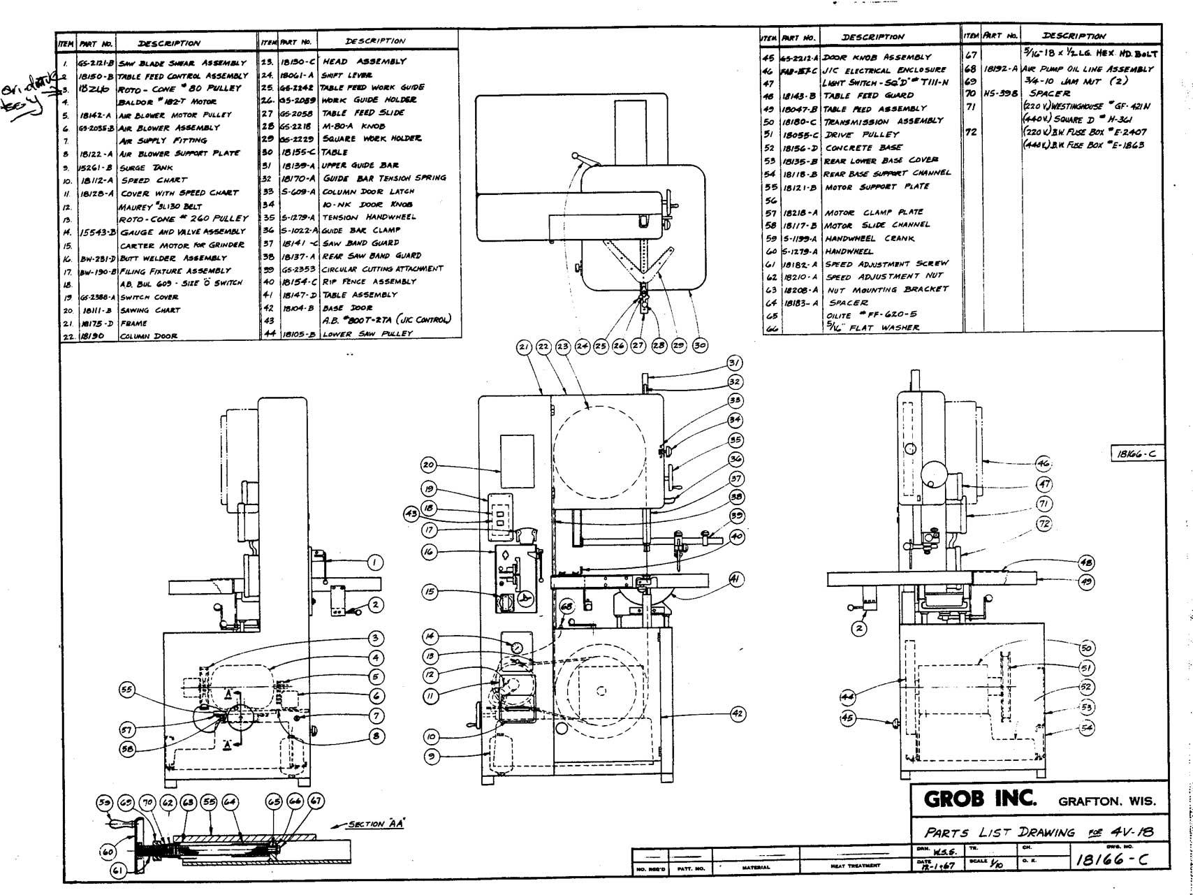 Doall 13 Lathe Wiring Schematic