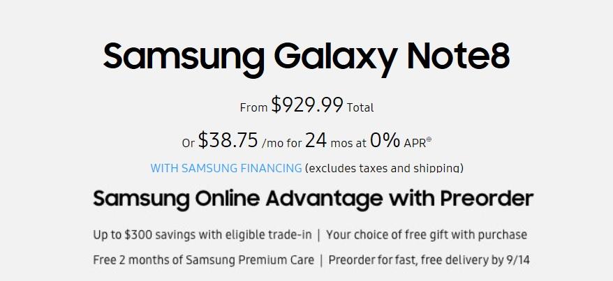 Samsung Galaxy Pricing