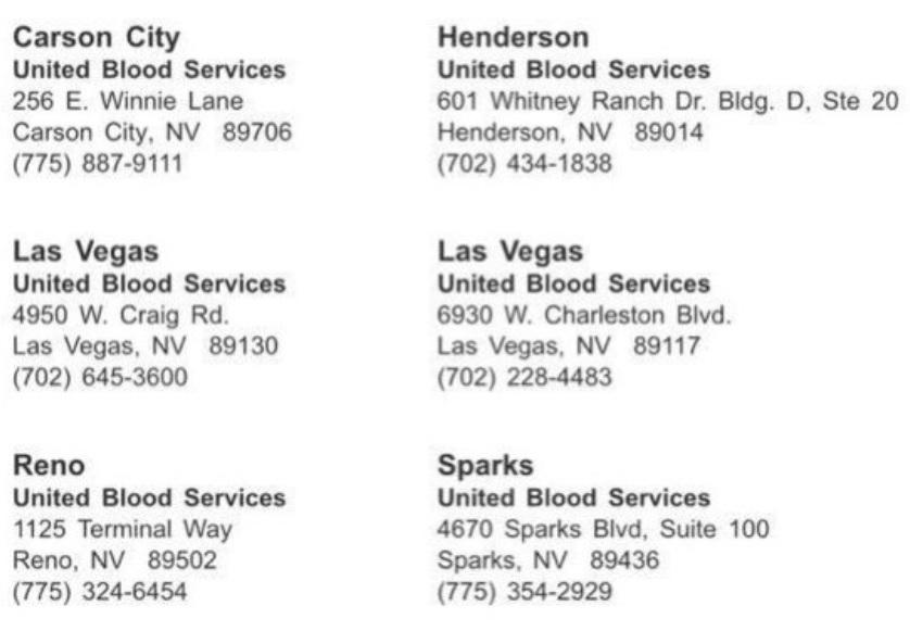 Las Vegas Donation