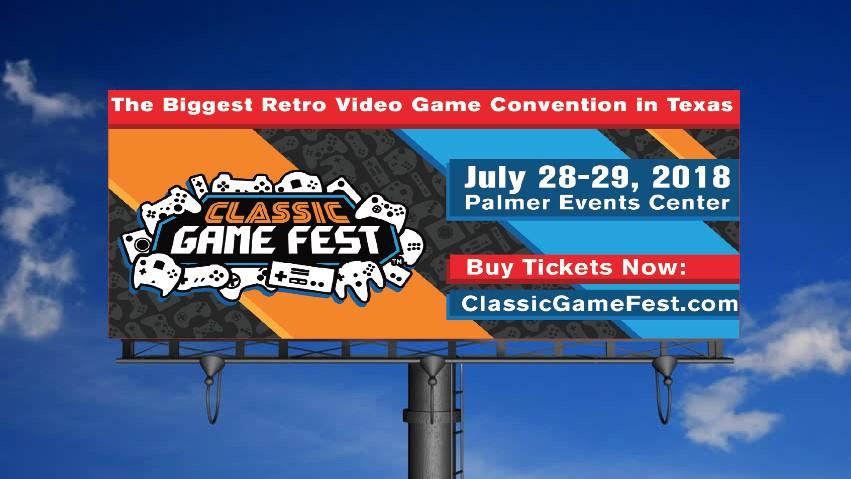 Classic Game Festival Billboard