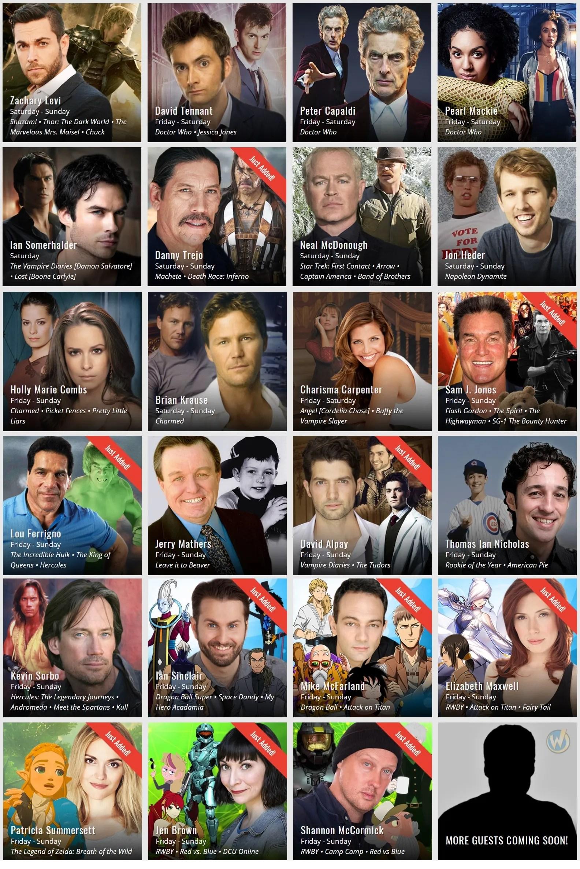 Wizard World Comic Con Guests