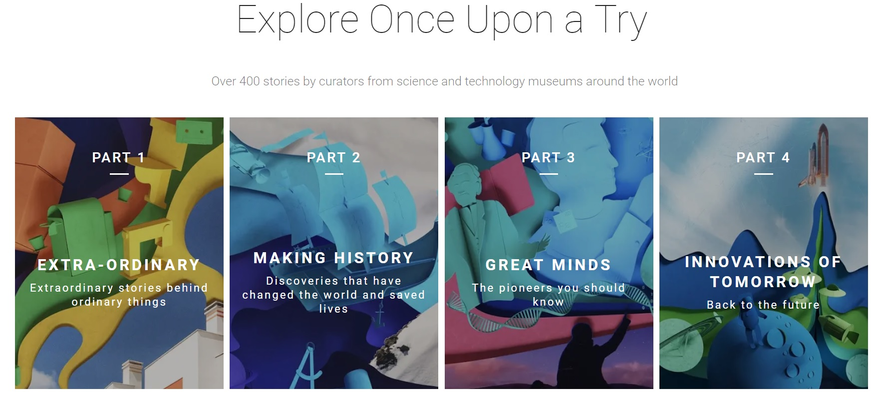 7d184a82a39 Per the press release, the goal of this project is to present meaningful  digital storytelling that encompasses both the history and future of  innovation to ...