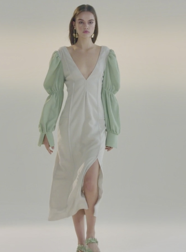 Vivienne-Hu-2020-Green-Dress