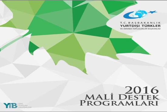 YTB 2016 Mali Destek Programları