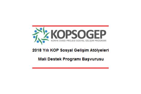 Konya Ovası Projesi (KOP) Sosyal Gelişim Atölyeleri Mali Destek Programı