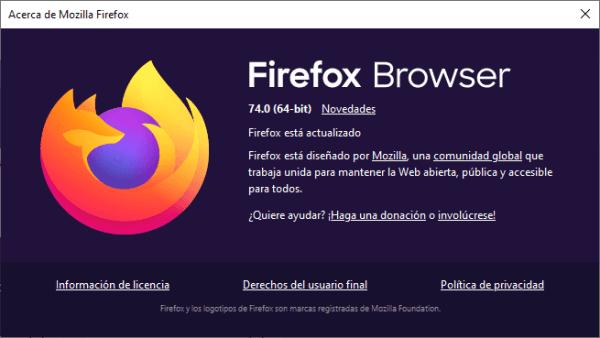 Firefox 74 deshabilita TLS 1.0 y TLS 1.1. Aquí el registro de cambios completo