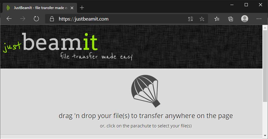 JustBeamIt: envía archivos sin límite de tamaño y compártelo con quien quieras