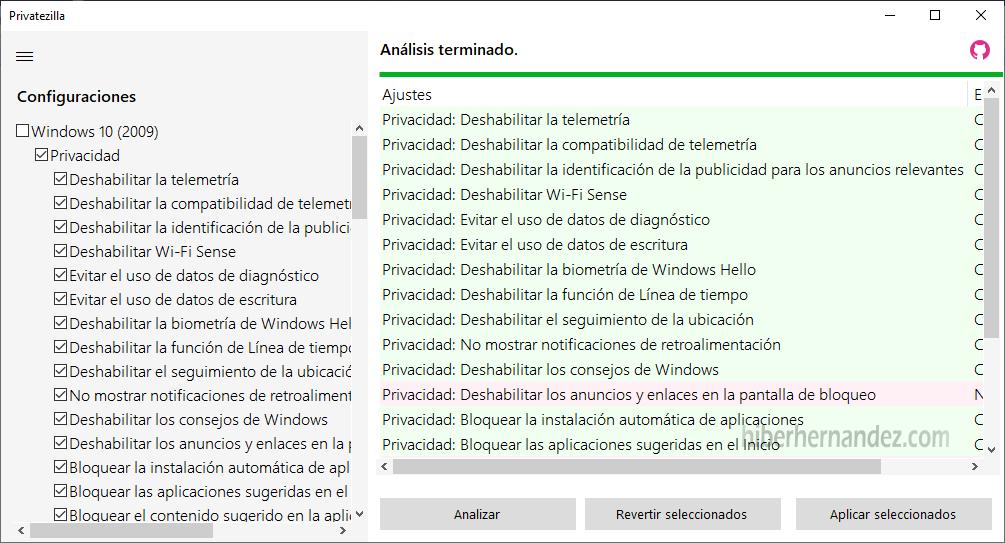 Privatezilla: pequeña pero potente herramienta de código abierto para controlar la privacidad en Windows 10