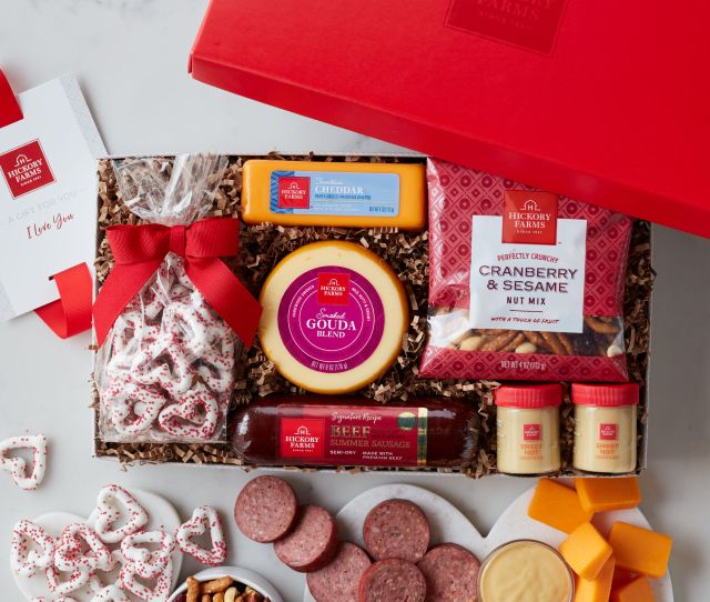 Hickory Farms Happy Valentines Day Gift Box