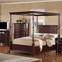 Leather bedroom furniture