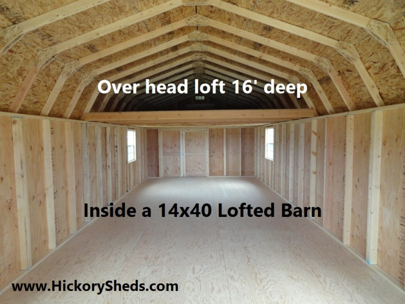 Old Hickory Sheds   Lofted Barn