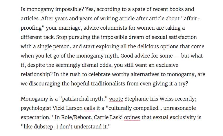 anti-monogamy War on Monogamy