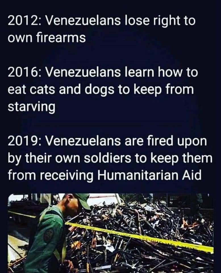 venezuela timeline of losing gun rights