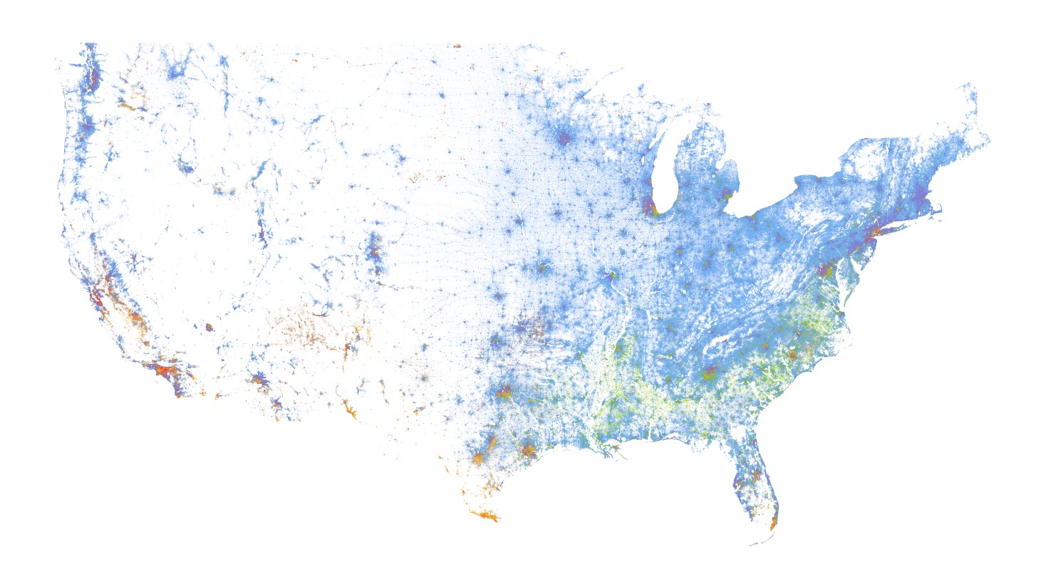 racial dot map image with no settings changed