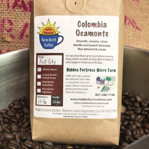 Colombia Ocamonte organic coffee