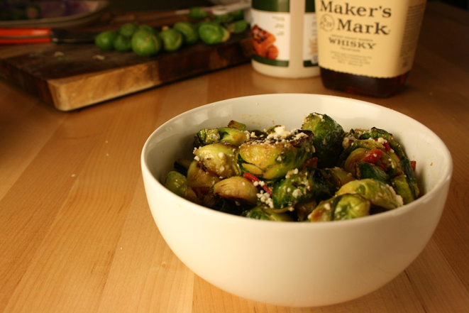 Maple Bourbon Brussels Sprouts