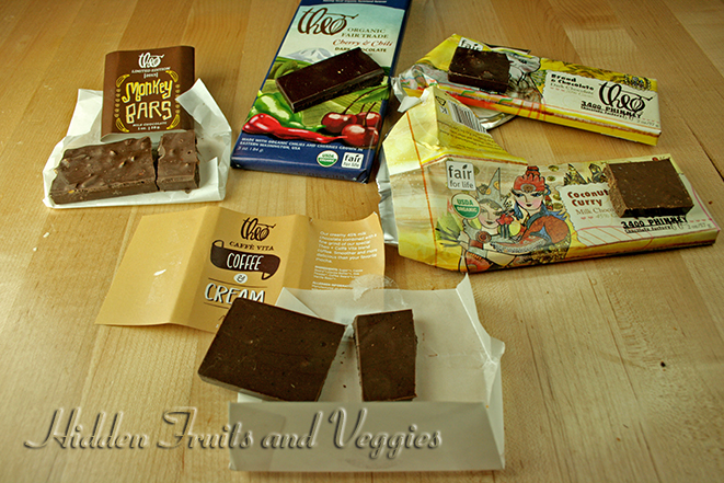 opened chocolate bars