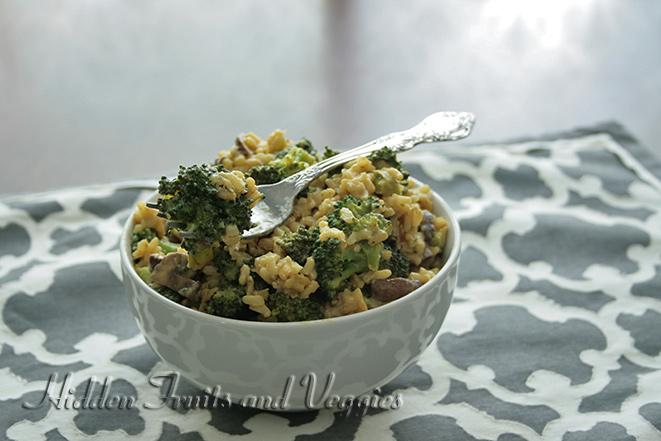 "Vegan ""Cheesy"" Broccoli and Rice Casserole"