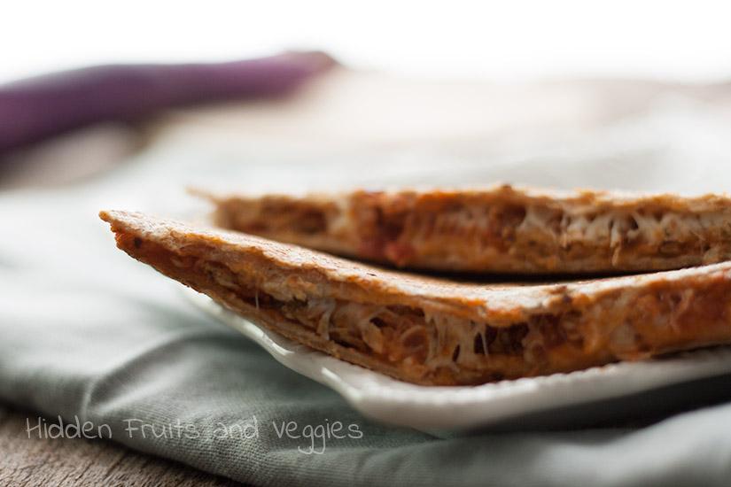 Eggplant Parmigiana Quesadilla