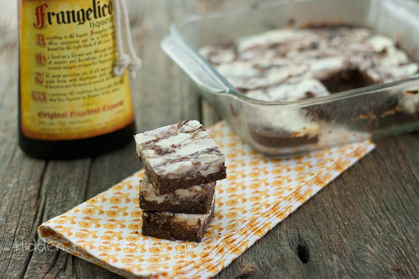 Black Bean Cheesecake Brownies with Hazelnut Liqueur